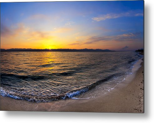 Red Sea Metal Print featuring the photograph The Sun Rises Over The Red Sea In Egypt by Mark E Tisdale