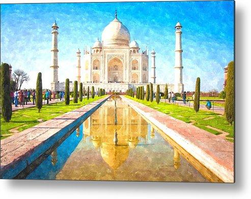 The Taj Mahal Metal Print by Gianfranco Weiss