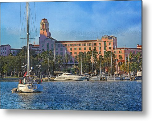 Vinoy Park Hotel Metal Print featuring the photograph The Vinoy Park Hotel by HH Photography of Florida