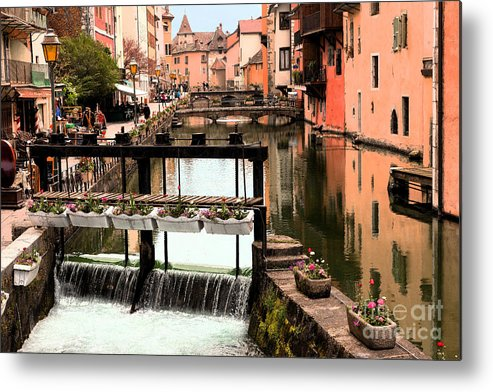 Old Annecy Metal Print featuring the photograph The Waterways Of Old Annecy by John Gaffen