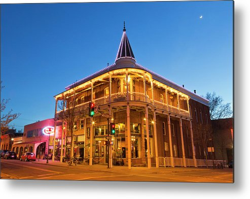 Accommodation Metal Print featuring the photograph The Weatherford Hotel At Dusk by Chuck Haney