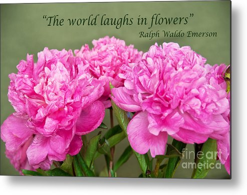 Bob And Nancy Kendrick Metal Print featuring the photograph The World Laughs In Flowers by Bob and Nancy Kendrick
