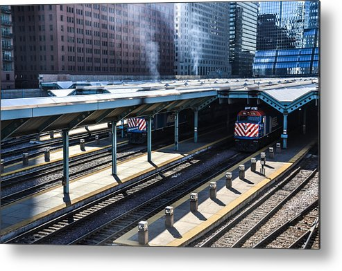 Train Metal Print featuring the photograph The Yards by Polina Goncharova