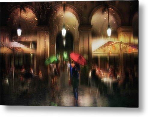 Umbrella Metal Print featuring the photograph There Is Something In The Rain... by Charlaine Gerber
