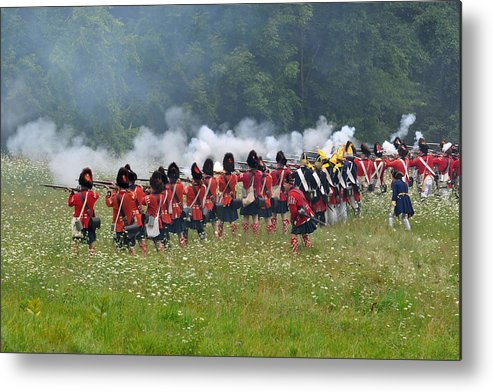 Revolutionary Metal Print featuring the photograph Thin Red Line by William Coffey