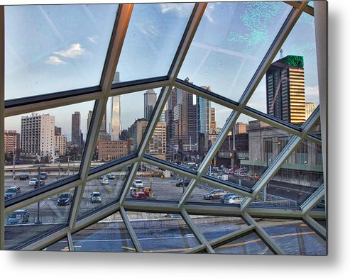 Philadelphia Metal Print featuring the photograph Through The Glass At Philly by Alice Gipson