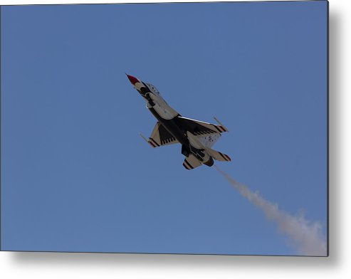 Usaf Metal Print featuring the photograph Thunderbird Slow Flight by John Daly