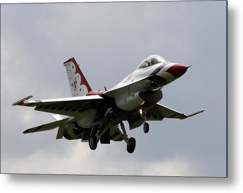 F-16 Metal Print featuring the photograph Thunderbirds Are Go by Tim Senior