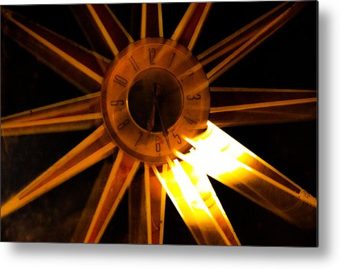 Metal Print featuring the photograph Tick-tock Star Clock by Brian Blevins