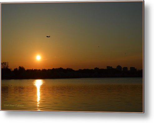 Tidal Basin Sunset Metal Print featuring the photograph Tidal Basin Sunset by Sonali Gangane
