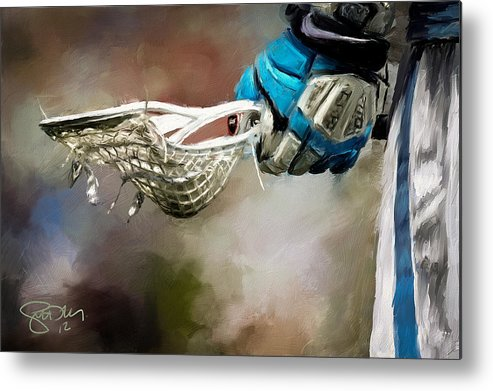 Lacrosse Metal Print featuring the painting Time To Play by Scott Melby
