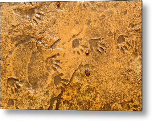 Foot Prints Metal Print featuring the photograph Tiny Patter Of Feet by Mair Hunt