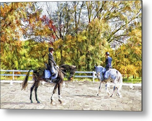 Horses Metal Print featuring the photograph To A Halt by Alice Gipson