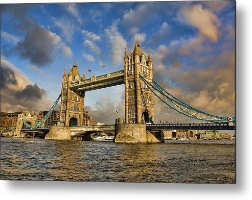 London Metal Print featuring the photograph Tower Bridge by Jeff Dalton