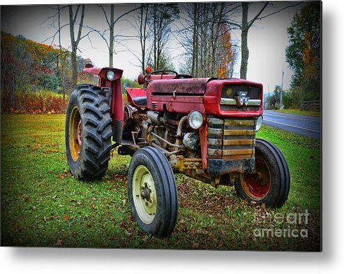 Paul Ward Metal Print featuring the photograph Tractor - The Farmers Car by Paul Ward
