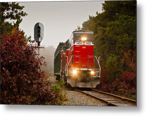 Transportation Metal Print featuring the photograph Train Engine by Dennis Coates