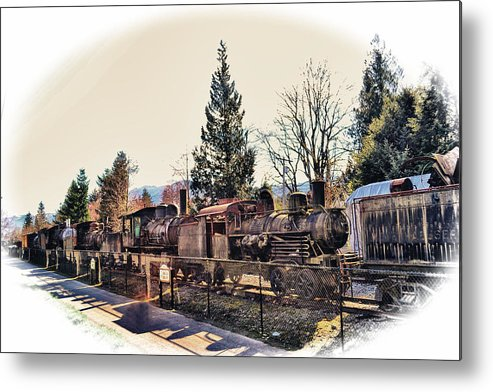 Old Metal Print featuring the photograph Train Graveyard by Kelly Reber
