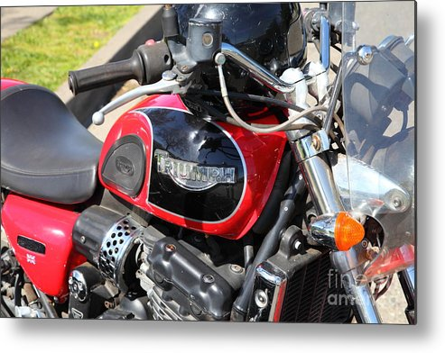 Transportation Metal Print featuring the photograph Triumph Motorcycle 5d28101 by Wingsdomain Art and Photography