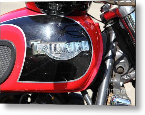 Transportation Metal Print featuring the photograph Triumph Motorcycle 5d28104 by Wingsdomain Art and Photography