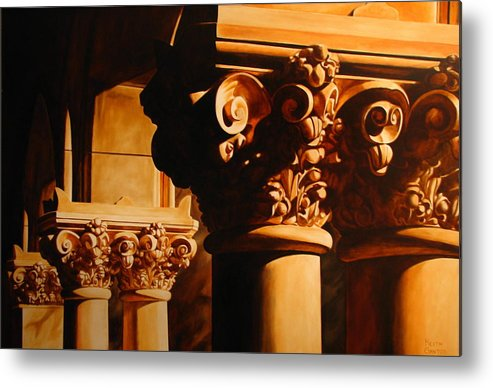 Corinthian Columns Metal Print featuring the painting Turn Of The Century by Keith Gantos
