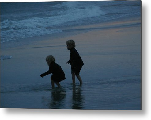 Beach Metal Print featuring the photograph Twins by Michele Embry