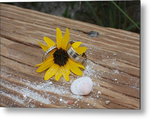 Flower Metal Print featuring the photograph United Forever by Shari Bailey
