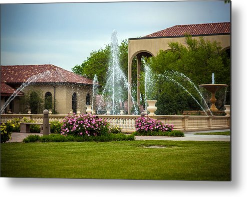 Bumble Bee Metal Print featuring the photograph Unity Village Rose Garden by Sennie Pierson