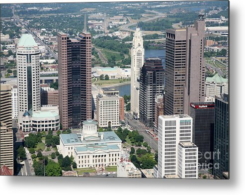 Columbus Metal Print featuring the photograph Uptown District by Bill Cobb
