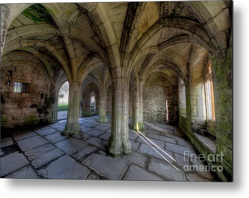 Abbey Metal Print featuring the photograph Valle Crucis Chapter House by Adrian Evans