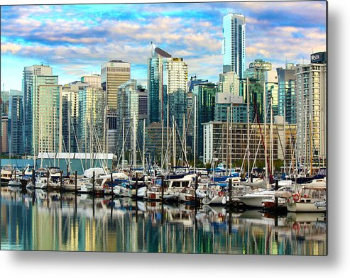 Vancouver Metal Print featuring the photograph Vancouver City by Calphy Com