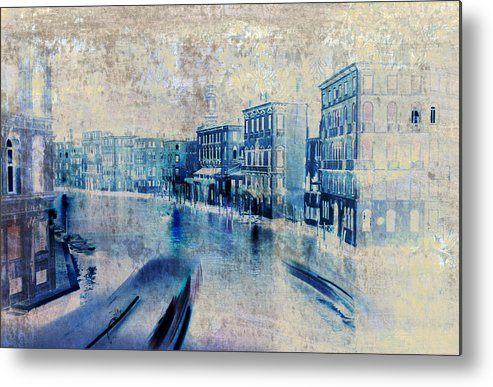 Venice Metal Print featuring the painting Venice Canal Grande by Frank Tschakert