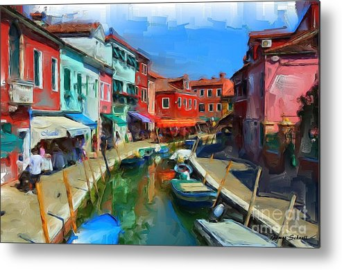 Venice Metal Print featuring the painting Venice by James Schnell