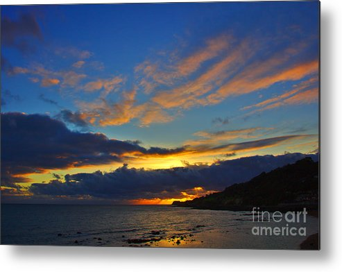 Isle Of Wight Metal Print featuring the photograph Ventnor Sunset by Jeremy Hayden