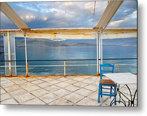 Veranda Metal Print featuring the photograph Veranda by Grigorios Moraitis