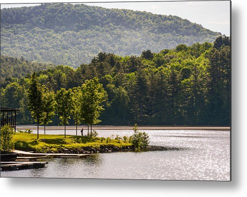 Lake Metal Print featuring the photograph Vermonts Lake Fairlee by Sherman Perry