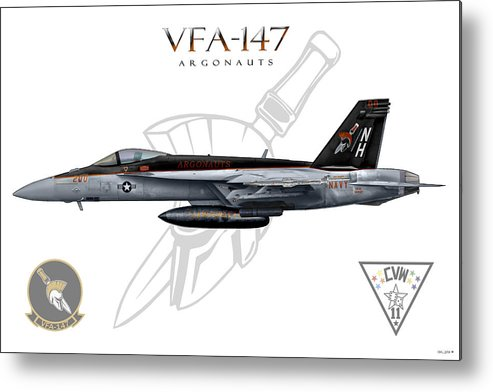 Vfa-147 Metal Print featuring the digital art Vfa-147 2014 by Clay Greunke