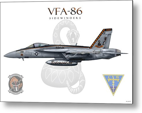 Vfa-86 Metal Print featuring the digital art Vfa-86 2014 by Clay Greunke
