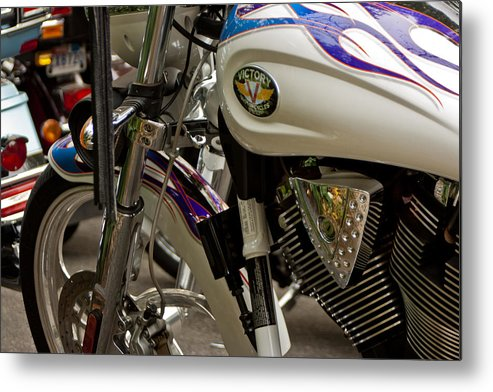 Transportation Metal Print featuring the photograph Victory Motorcycle Engine by Dennis Coates