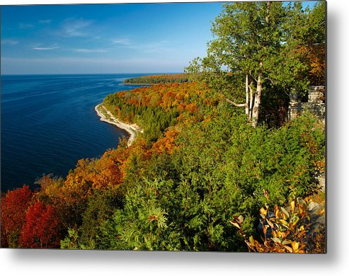 door County Metal Print featuring the photograph View From Sven's Bluff by Chuck De La Rosa
