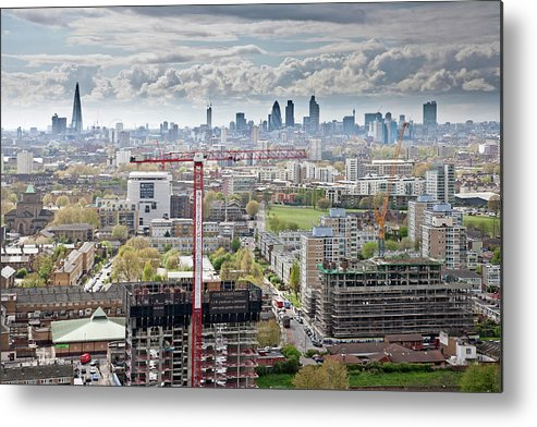 Construction Site Metal Print featuring the photograph View Of East London by James Burns