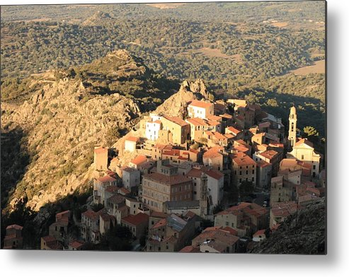 Balagne Metal Print featuring the photograph Village Of Speloncatu In Corsica by Jon Ingall