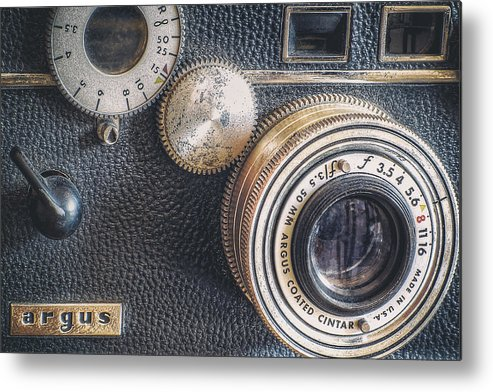 Camera Metal Print featuring the photograph Vintage Argus C3 35mm Film Camera by Scott Norris