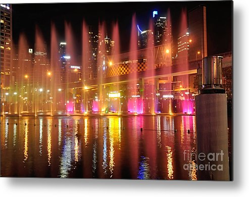Photography Metal Print featuring the photograph Vivid Sydney By Kaye Menner - Vivid Aquatique by Kaye Menner