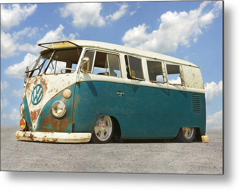 1960s Vw Metal Print featuring the photograph Vw Lowrider Bus by Mike McGlothlen