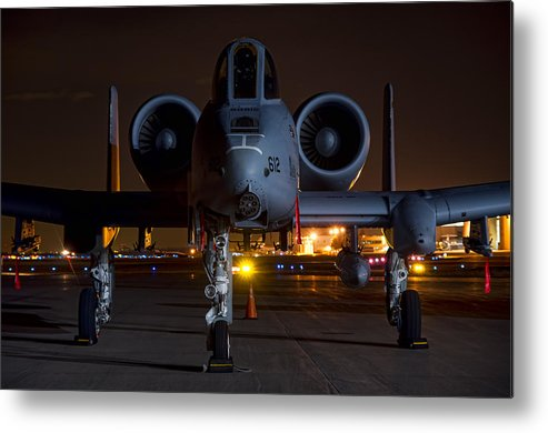 A-10 Metal Print featuring the photograph Warthog by Nathan Gingles