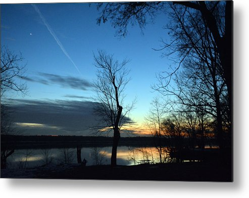 Sunset Metal Print featuring the photograph Water Color Sunset by Bill Helman