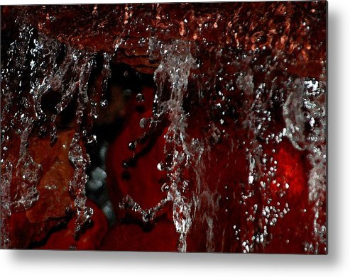 Water Metal Print featuring the photograph Waterfall In Red by Victoria Leyva