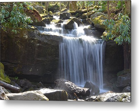 Nature Metal Print featuring the photograph Waterfall by Stephanie Streicher