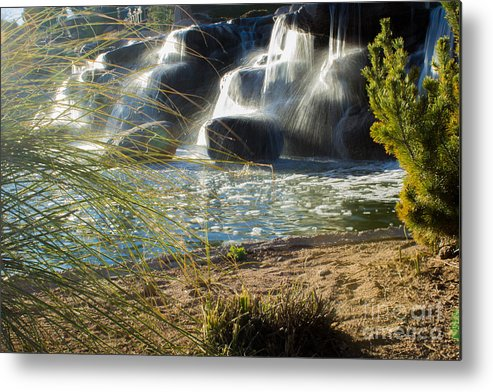 Landscape Metal Print featuring the photograph Waterfall Sunset by Phyllis Bradd