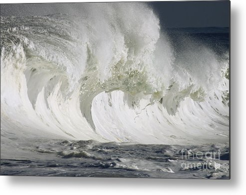Beautiful Metal Print featuring the photograph Wave Whitewash by Vince Cavataio